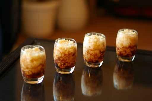 4 verrines riz au lait caramel